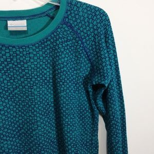 Columbia Tops - Columbia Thermal Navy & Teal Patterned
